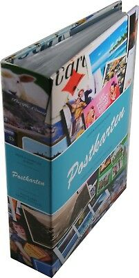 Lighthouse Small Postcard Album Safe Storage Travel 50 Pages 4 Pockets New