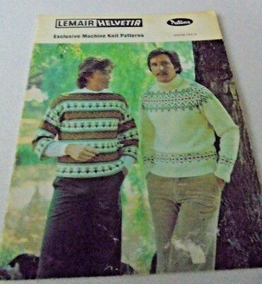#10 Patons Lemair Helvetia Knitting Machine Pattern Book for Men Sweaters