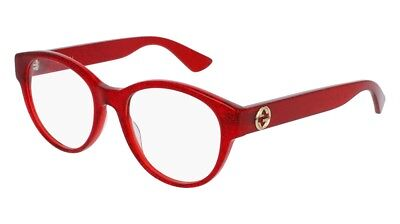57d918593b NEW Gucci Urban GG 0039O Eyeglasses 004 Red 100% AUTHENTIC