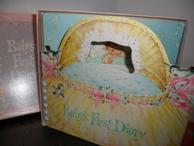 #2 Vintage 1960 Baby Diary Memory Book