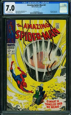 Amazing Spider-Man #61 (Jun 1968, Marvel) 7.0 FN/VF CGC (1st Gwen Stacy Cover)