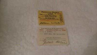 Reduced: Lot Of 2 Railroad Passes (1Price For All)
