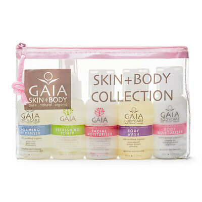 Gaia 5 X 50ml Pure/Natural/Organic Skin and Body Collection Kit Women/Ladies