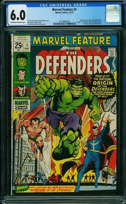 Marvel Feature #1 (Dec 1971, Marvel) 6.0 FN CGC (1st Appearance of the Defender)