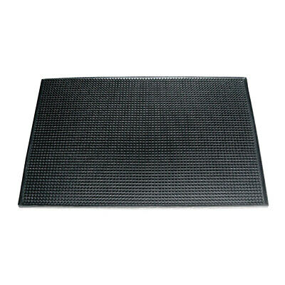 Bar Mat Black Rubber 450x300mm Counter Surface Drink Mats Runner Barmat