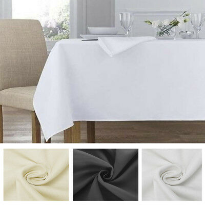 blanc noir nappe table polyester rectangle rond mariage maison fêtes