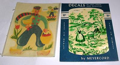 2 2 Vtg 1950's Meyercord Decals - Water Transfers - Dutch Theme, Crafts
