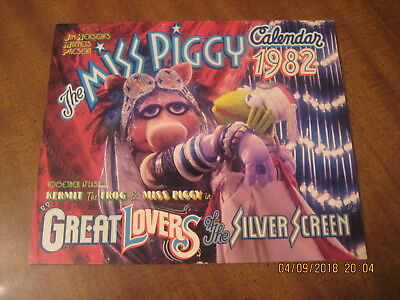 """Vintage Miss Piggy Calendar (1982) - """"Great Lovers of the Silver Screen"""""""