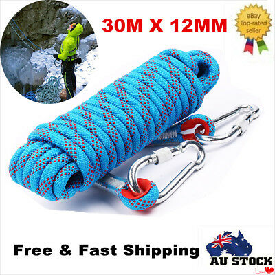 30M Outdoor Rock Climbing Safety Rope Diameter 12mm High Strength Accessory Cord
