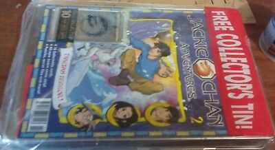 JACKIE CHAN ADVENTURES Tin Case + Magazine + extras mint never opened