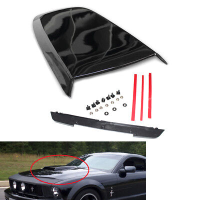 Car Front Hood Scoop Bonnet Vent Cover for FORD Mustang GT V8 05-14 Gloss Black