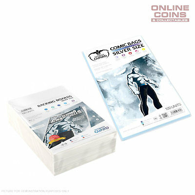 BUNDLE ULTIMATE GUARD Comic Series SILVER Size Comic Bags & Backing Boards x 100