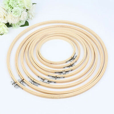 Wooden Cross Stitch Embroidery Hoop Ring Frame Machine Practical Hand 13cm -34cm