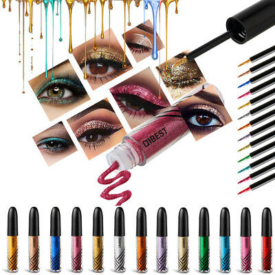 Eyeshadow Liquid Waterproof Shiny Glitter Eyeliner Gel Shimmer Makeup Cosmetics