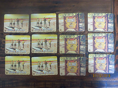 2 x 6 of each CASTLEMAINE XXXX GOLD Issue  Beer collectable COASTERS,