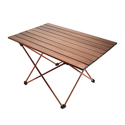 Folding Aluminum Roll Up Table for Camping Outdoor Picnic Garden Party