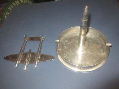 "1 only AIROPLANE / BULLET / SHELL Ashtray, 180mm Dia  ""2 pieces,should be one"""