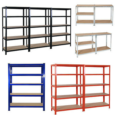 5-Tier Racking Storage Shelving Heavy Duty Garage Workshop Metal Shelves Unit UK