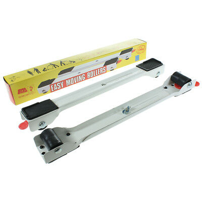 Universal Easy Move Adjustable Extendable Appliance Rollers with Foot Brake