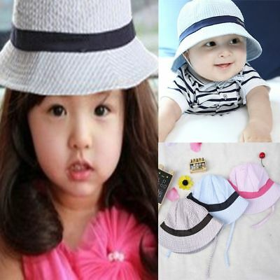 New Toddler Baby Infant Sun Cap Summer Outdoor Girls Boys Sun Beach Bucket Hat
