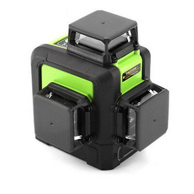 12 Line Laser Level Green Self Leveling 3D 360° Rotary Cross Measure Tool UK