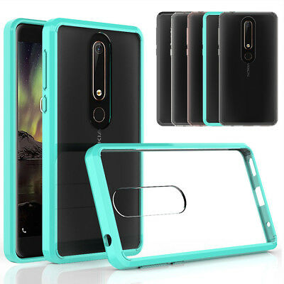 Shockproof Hybrid Clear Hard Case Protective TPU Cover For Nokia 6 2018/ 7 Plus