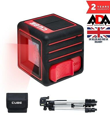 LASER LEVEL Cross Line Self Levelling + TRIPOD Handheld compact ADA CUBE