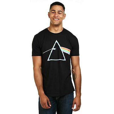 Pink Floyd Official  Dark Side of the moon Prism Mens T-Shirt Black