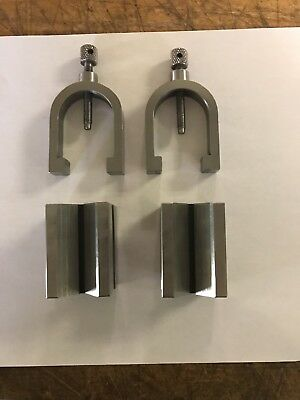Machinist V-Block Pair With Clamps