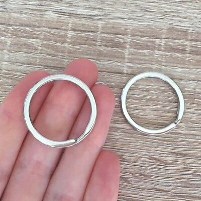 10/20/30 Pcs Stainless Steel Key Split Rings Keyring Keychain Jewelry Findings