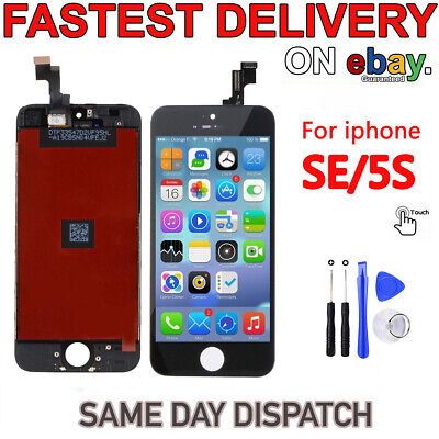 For iPhone SE 5S Black LCD Display Touch Screen Genuine IC Digitizer Assembly UK
