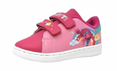 Girls Trolls Poppy Pink Wipe Clean Casual Trainers Sport Shoes UK Various Sizes