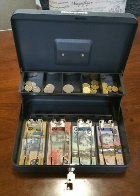 Honeywell Stall Holder Cash Box  6213  with Tiered Coin Tray