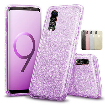 For Huawei P20 Pro Lite P Smart Thin Hybrid Bling Glitter Soft Phone Case Cover