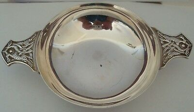 Vintage Superb Large Sized Celtic Silver Quaiche By James Ramsay Dundee Lon 1937