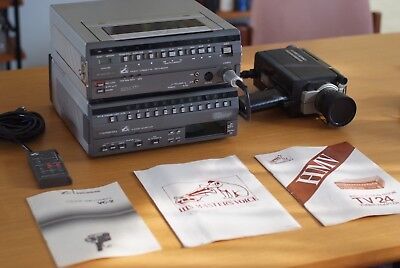 Vintage HMV VHS Camera system, complete with manual, Collectable, Made in Japan