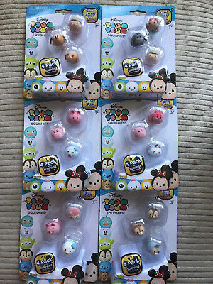 Disney Tsum Tsum Fuzzy Feel Series 2 Squishies - 4 Pack CHOOSE YOUR OWN PACK NEW