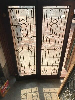 SG 20306.2 AV price each antique leaded glass bookcase or vertical window 16 x …