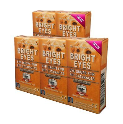 Ethos Bright Eyes Cataract Eye Drops For Dogs & Pets 5 Boxes  10 x 5 ML Bottles