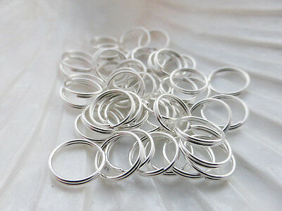 20x Strong Split Ring 5mm Dull Silver Metal Alloy  **UKSeller