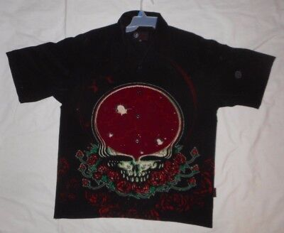 Grateful Dead Dragonfly Button Up Shirt SPACE YOUR FACE XXL 2XL