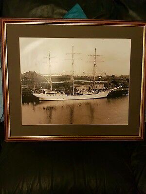 Vintage Ship Picture with frame