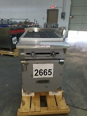 2665-New S/D - Vulcan Heavy Duty V-Series Charbroiler with base, Model: VCBB24B