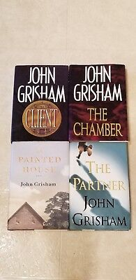 Lot of 4: Grisham 1st ed hardcover books Client, Chamber, Painted House, Partner