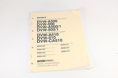 Sony Digital Videocassette Recorder/Player Installation Manual (Revised 5)