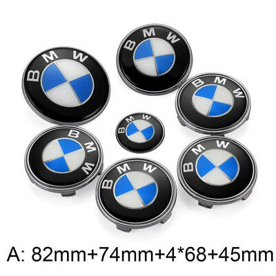 BMW Car Emblem Badge Logo For Front/Rear Trunk/Wheel Hub Cap/Steering Wheel 82mm