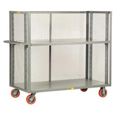 """Little Giant 3-Sided Adjustable Truck, Mesh Sides, 48""""L x 24""""W x 57""""H, Lot of 1"""