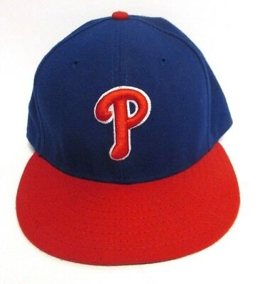 san francisco 1bd45 afd20 MLB Philadelphia Phillies New Era 59FIFTY Fitted Hat Size 7 1 2