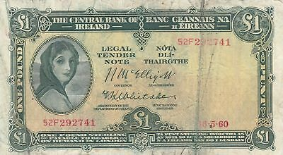 Irland 1 Pound 18-05-1960 -  Lady Lavery - Serial 52F 4th