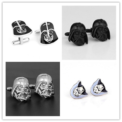 Star Wars Cufflinks Stormtrooper Master Yoda Men Party Wedding Gift